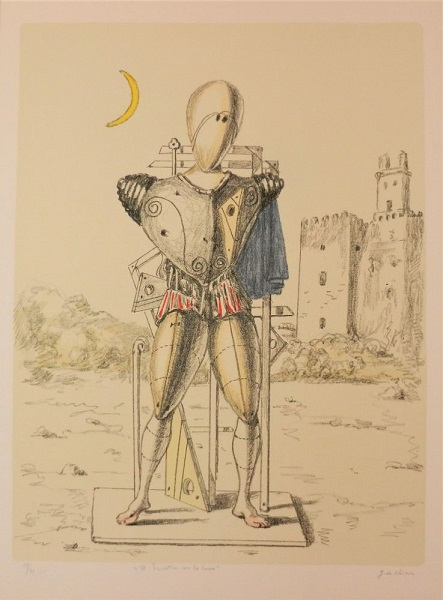 Giorgio de Chirico Il trovatore con la luna